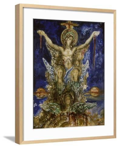 Le Christ R?dempteur-Gustave Moreau-Framed Art Print