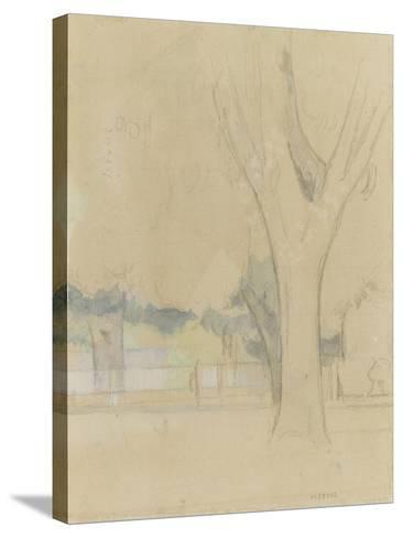 Marronniers du Jas de Bouffan-Paul C?zanne-Stretched Canvas Print