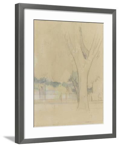 Marronniers du Jas de Bouffan-Paul C?zanne-Framed Art Print