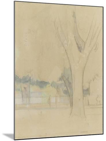 Marronniers du Jas de Bouffan-Paul C?zanne-Mounted Giclee Print