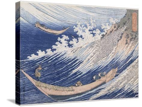 Chôshi dans la province de Chiba-Katsushika Hokusai-Stretched Canvas Print