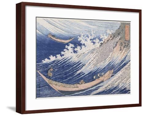 Chôshi dans la province de Chiba-Katsushika Hokusai-Framed Art Print