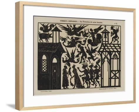 Ombres chinoises : la tentation de saint Antoine--Framed Art Print