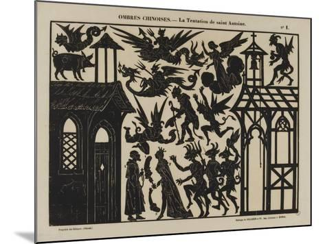 Ombres chinoises : la tentation de saint Antoine--Mounted Giclee Print