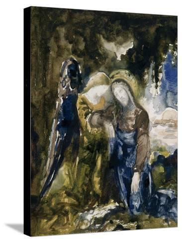 Le Christ au jardin des oliviers-Gustave Moreau-Stretched Canvas Print