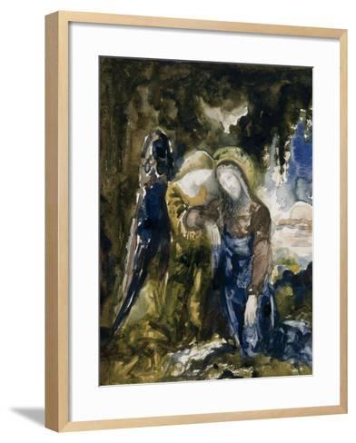 Le Christ au jardin des oliviers-Gustave Moreau-Framed Art Print
