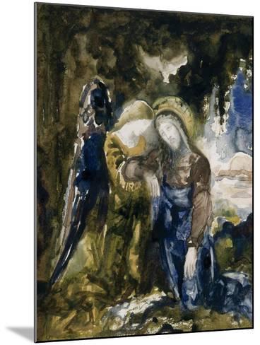 Le Christ au jardin des oliviers-Gustave Moreau-Mounted Giclee Print
