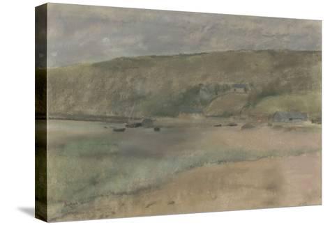 Falaises au bord de la mer : plage de Beuzeval-Edgar Degas-Stretched Canvas Print