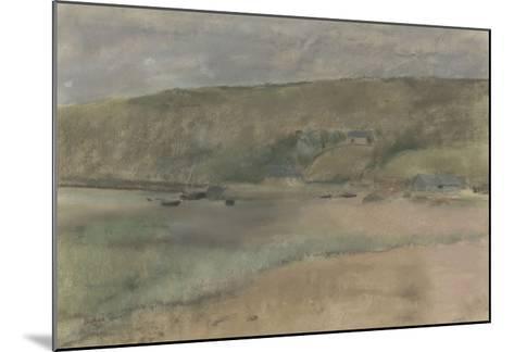 Falaises au bord de la mer : plage de Beuzeval-Edgar Degas-Mounted Giclee Print