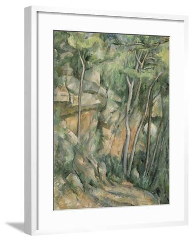 Dans le parc de Château-Noir-Paul C?zanne-Framed Art Print