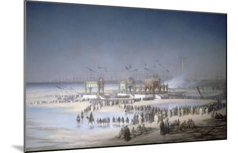 Cérémonie d'inauguration du canal de Suez à Port-Saïd, le 17 novembre 1869.-?douard Riou-Mounted Giclee Print