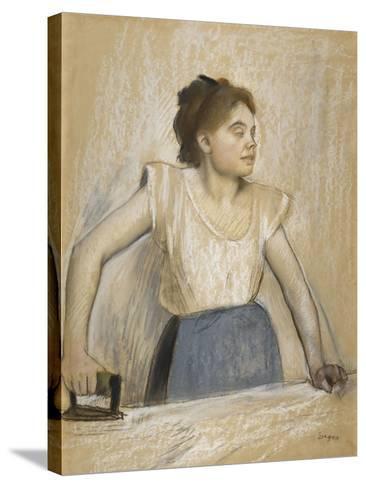 La repasseuse-Edgar Degas-Stretched Canvas Print