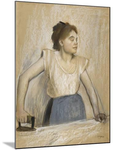 La repasseuse-Edgar Degas-Mounted Giclee Print
