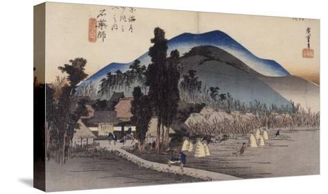 Ishiyakushi, le monastère-Ando Hiroshige-Stretched Canvas Print
