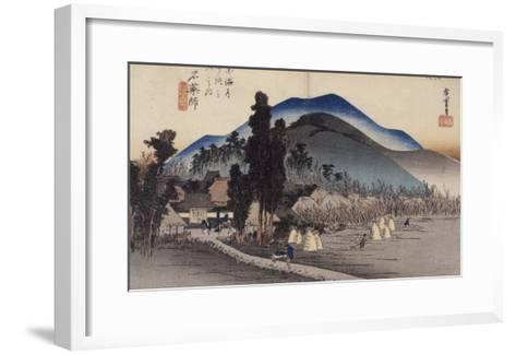 Ishiyakushi, le monastère-Ando Hiroshige-Framed Art Print