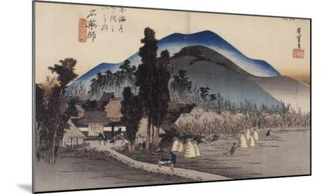 Ishiyakushi, le monastère-Ando Hiroshige-Mounted Giclee Print