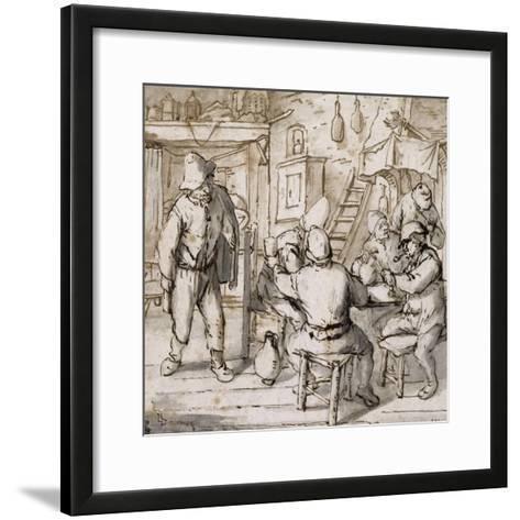Intérieur d'estaminet-Adrien Van Ostade-Framed Art Print