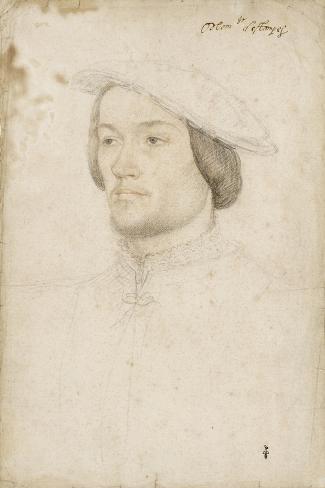 Jean de Brosse, duc d'Etampes (1505-1565)-Jean Clouet-Stretched Canvas Print