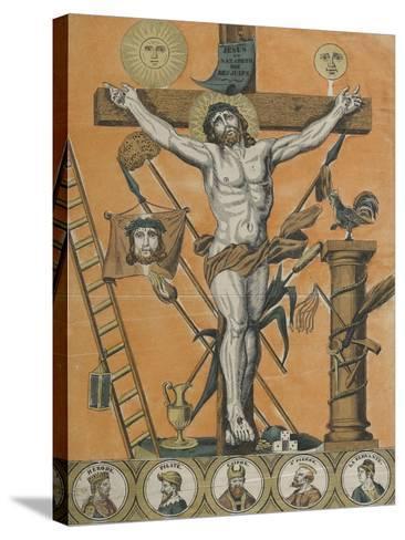 Jésus Christ en croix--Stretched Canvas Print