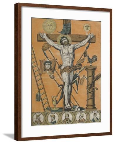 Jésus Christ en croix--Framed Art Print