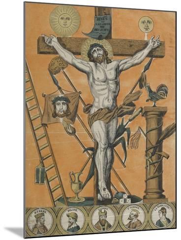 Jésus Christ en croix--Mounted Giclee Print