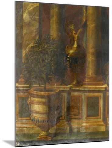 Janvier, signe du Verseau : représentation d'un opéra de Psyché devant la colonnade du Louvre-Charles Le Brun-Mounted Giclee Print