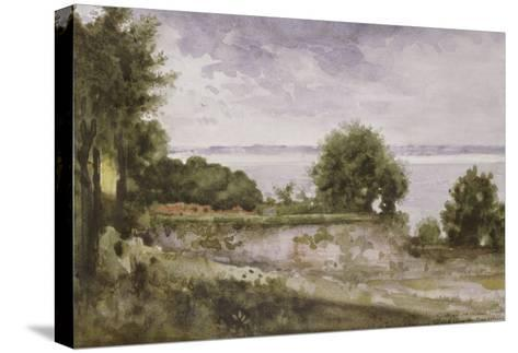 Paysage (Honfleur) ou Jardin de madame Aupick, mère de Baudelaire-Gustave Moreau-Stretched Canvas Print