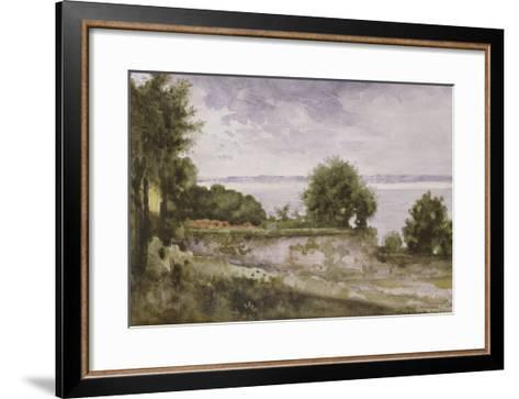 Paysage (Honfleur) ou Jardin de madame Aupick, mère de Baudelaire-Gustave Moreau-Framed Art Print