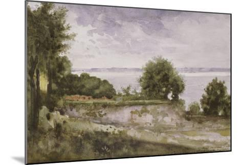 Paysage (Honfleur) ou Jardin de madame Aupick, mère de Baudelaire-Gustave Moreau-Mounted Giclee Print