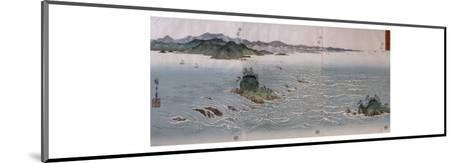 Paysage aux tourbillons d'Awa-Ando Hiroshige-Mounted Giclee Print