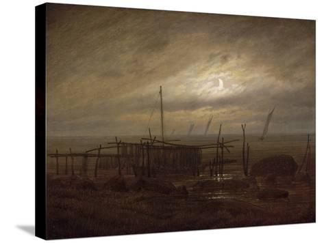 Paysage de bord de mer-Caspar David Friedrich-Stretched Canvas Print