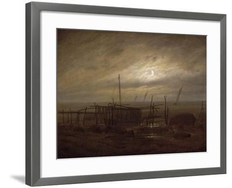 Paysage de bord de mer-Caspar David Friedrich-Framed Art Print