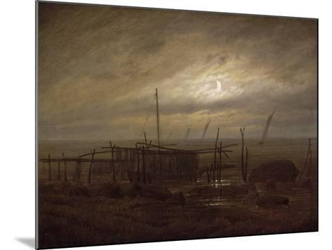 Paysage de bord de mer-Caspar David Friedrich-Mounted Giclee Print