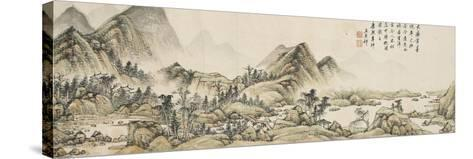 Paysage dans le style de Huang Gongwang-Yuanqi Wang-Stretched Canvas Print