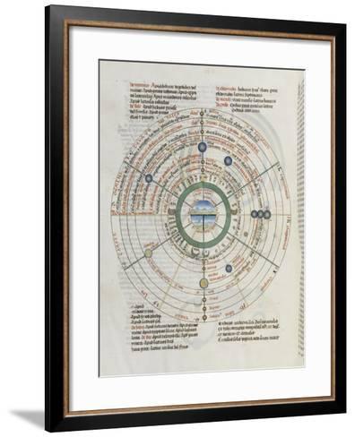 Liber Floridus par Lambert de Saint-Omer : Sphère du zodiaque--Framed Art Print