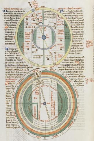 Liber Floridus par Lambert de Saint-Omer : Sphère du zodiaque--Stretched Canvas Print