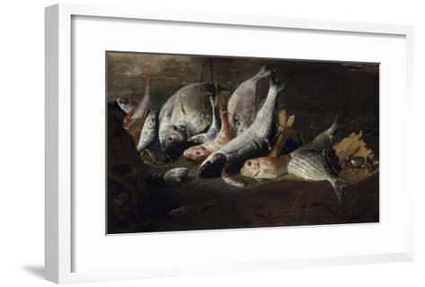 Nature morte. Poissons et crabes-Giuseppe Recco-Framed Art Print