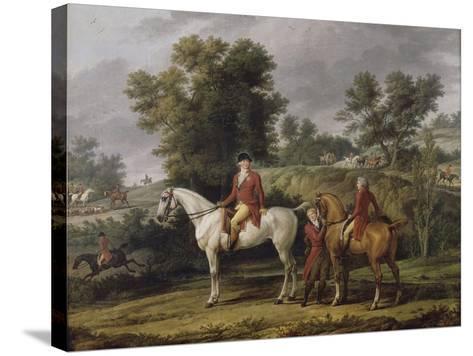 Le d�rt pour la chasse-Antoine Charles Horace Vernet-Stretched Canvas Print
