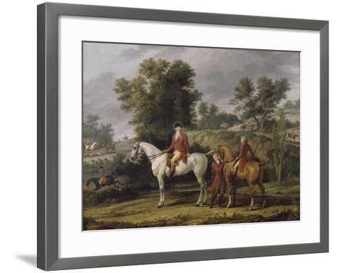 Le d�rt pour la chasse-Antoine Charles Horace Vernet-Framed Art Print