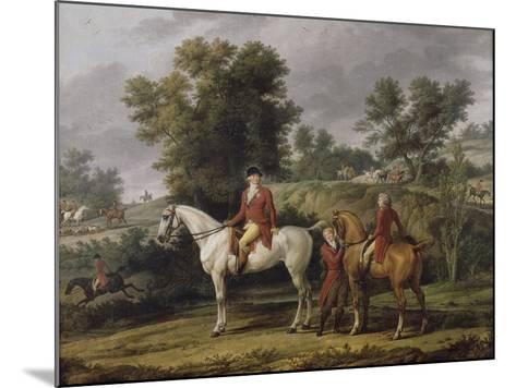 Le d�rt pour la chasse-Antoine Charles Horace Vernet-Mounted Giclee Print
