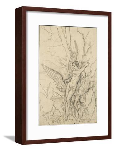 Léda-Gustave Moreau-Framed Art Print