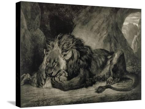Lion de l'Atlas-Eugene Delacroix-Stretched Canvas Print