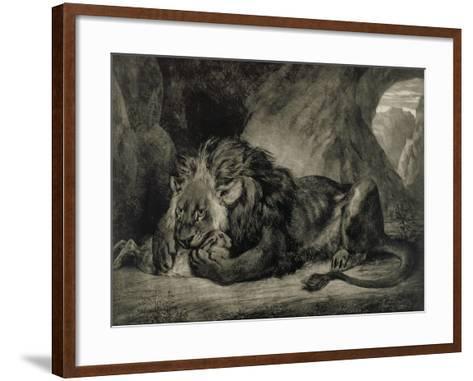 Lion de l'Atlas-Eugene Delacroix-Framed Art Print