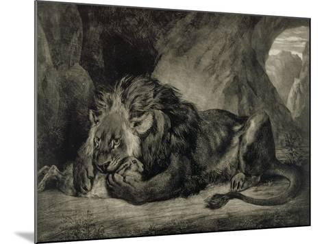 Lion de l'Atlas-Eugene Delacroix-Mounted Giclee Print
