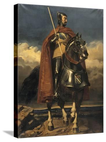 Louis de Champagne, comte de Sancerre, maréchal de France en 1368, connétable en 1397 (?-1402)-Jules Claude Ziegler-Stretched Canvas Print