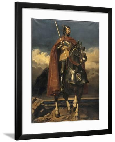 Louis de Champagne, comte de Sancerre, maréchal de France en 1368, connétable en 1397 (?-1402)-Jules Claude Ziegler-Framed Art Print