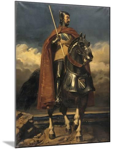 Louis de Champagne, comte de Sancerre, maréchal de France en 1368, connétable en 1397 (?-1402)-Jules Claude Ziegler-Mounted Giclee Print