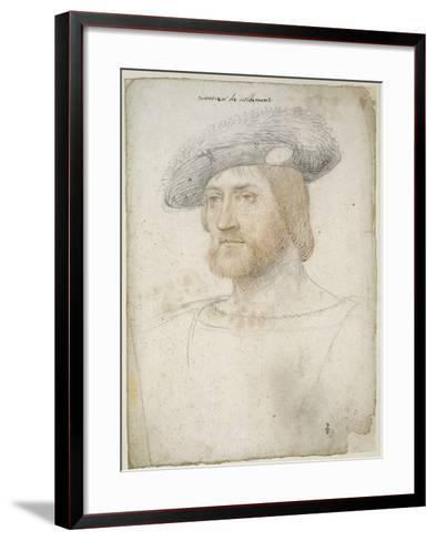 Louis de Lorraine, comte de Vaudémont (1500-1528)-Jean Clouet-Framed Art Print