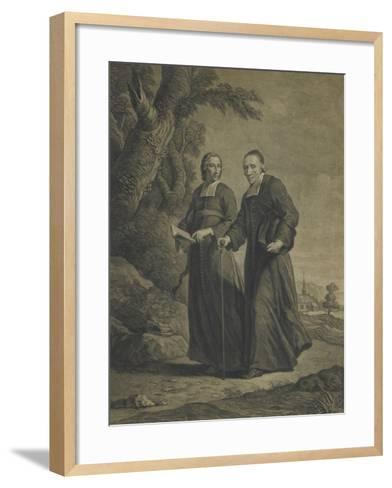 Firmin-Louis de Tournus et le diacre François de Pâris--Framed Art Print
