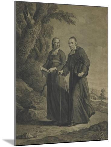 Firmin-Louis de Tournus et le diacre François de Pâris--Mounted Giclee Print